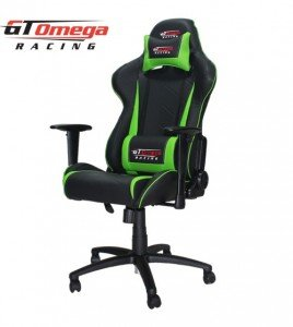 GT Omega Pro Office chair colour Black and Green