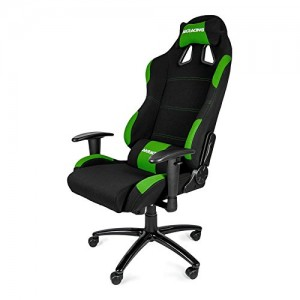 akracing k7012 office gaming chair, green and black