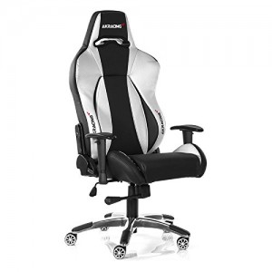 akracing premium v2 gaming chair white