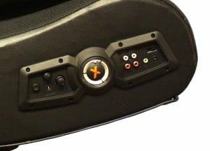 Close look at x rocker gaming chair controls