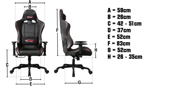 GtOmega Pro Chair Specs