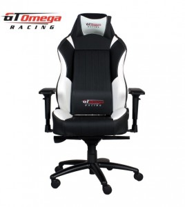 gtomega racing evo xl chair front facing