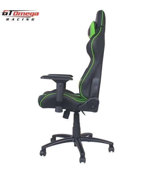 gt omega pro racing office chair black next green leather