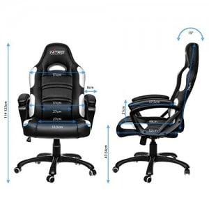 nitro concepts c80 gaming chair specs